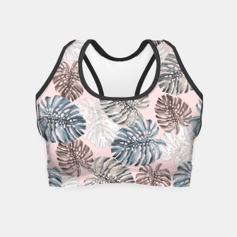 Thumbnail image of Palm Pattern Crop Top, Live Heroes