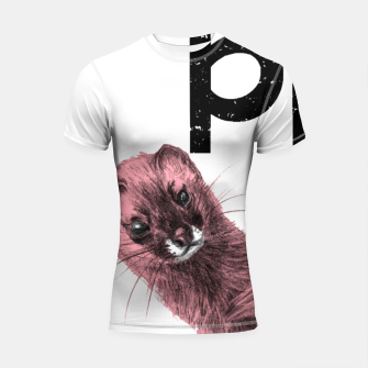 Thumbnail image of Pink goes the weasel Shortsleeve rashguard, Live Heroes