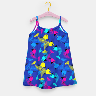 Thumbnail image of Fishes Love in Blue Girl's dress, Live Heroes