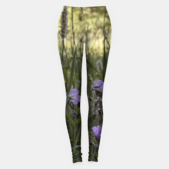 Thumbnail image of Flowers in a field Leggings, Live Heroes
