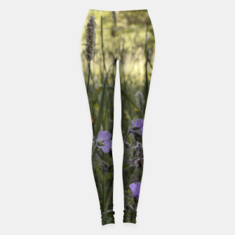 Miniatur Flowers in a field Leggings, Live Heroes