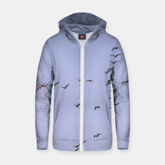 Miniatur Flying geese Cotton zip up hoodie, Live Heroes