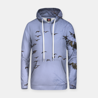 Miniatur Flying geese Cotton hoodie, Live Heroes