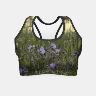 Miniatur Flowers in a field Crop Top, Live Heroes