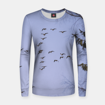 Miniatur Flying geese Woman cotton sweater, Live Heroes