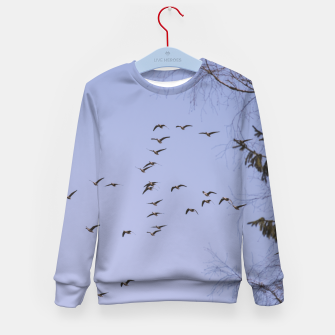 Miniatur Flying geese Kid's sweater, Live Heroes