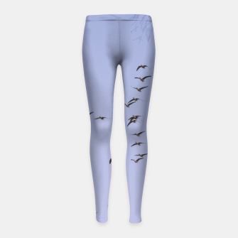 Miniatur Flying geese Girl's leggings, Live Heroes