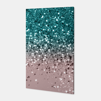 Thumbnail image of Tropical Summer Vibes Glitter #3 #decor #art Canvas, Live Heroes