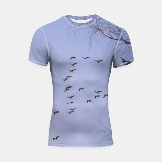Thumbnail image of Flying geese Shortsleeve rashguard, Live Heroes
