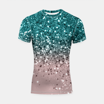 Thumbnail image of Tropical Summer Vibes Glitter #3 #decor #art Shortsleeve rashguard, Live Heroes