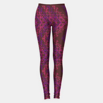 Thumbnail image of Luxury leggings brown triangles pink, Live Heroes