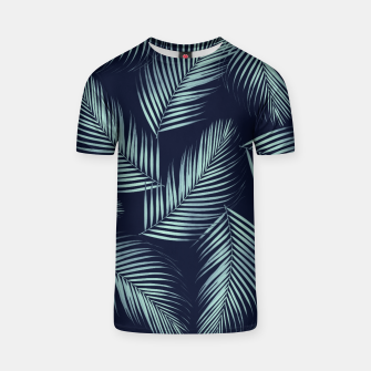 Thumbnail image of Palm Leaves Pattern - Navy Blue Mint Cali Vibes #1 #tropical #decor #art T-Shirt, Live Heroes