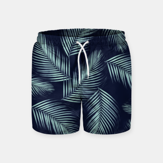 Thumbnail image of Palm Leaves Pattern - Navy Blue Mint Cali Vibes #1 #tropical #decor #art Badeshorts, Live Heroes