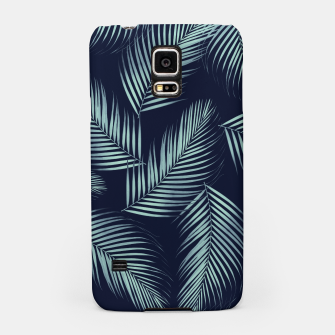 Thumbnail image of Palm Leaves Pattern - Navy Blue Mint Cali Vibes #1 #tropical #decor #art Handyhülle für Samsung, Live Heroes