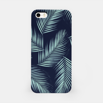Thumbnail image of Palm Leaves Pattern - Navy Blue Mint Cali Vibes #1 #tropical #decor #art iPhone-Hülle, Live Heroes