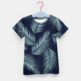 Thumbnail image of Palm Leaves Pattern - Navy Blue Mint Cali Vibes #1 #tropical #decor #art T-Shirt für kinder, Live Heroes