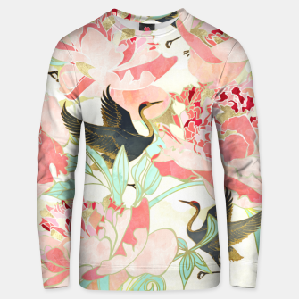 Thumbnail image of Floral Cranes Cotton sweater, Live Heroes