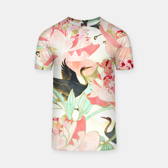 Thumbnail image of Floral Cranes T-shirt, Live Heroes