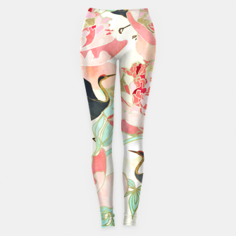 Thumbnail image of Floral Cranes Leggings, Live Heroes