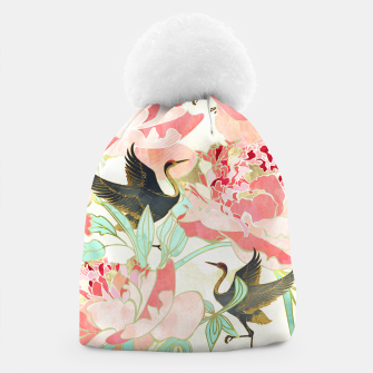 Thumbnail image of Floral Cranes Beanie, Live Heroes