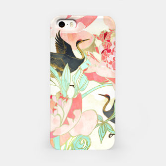 Thumbnail image of Floral Cranes iPhone Case, Live Heroes