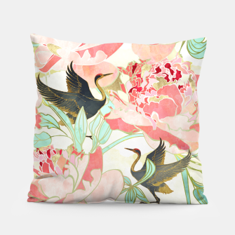 Thumbnail image of Floral Cranes Pillow, Live Heroes