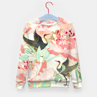 Thumbnail image of Floral Cranes Kid's sweater, Live Heroes