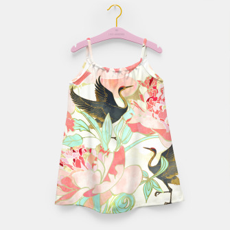 Thumbnail image of Floral Cranes Girl's dress, Live Heroes