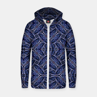 Thumbnail image of Modern Ornate Pattern Design Cotton zip up hoodie, Live Heroes