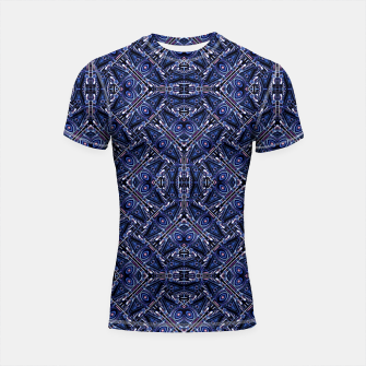 Thumbnail image of Modern Ornate Pattern Design Shortsleeve rashguard, Live Heroes