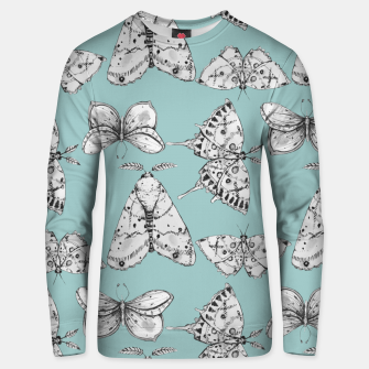 Thumbnail image of Moth: Dusty Blue Cotton sweater, Live Heroes