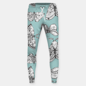 Thumbnail image of Moth: Dusty Blue Cotton sweatpants, Live Heroes