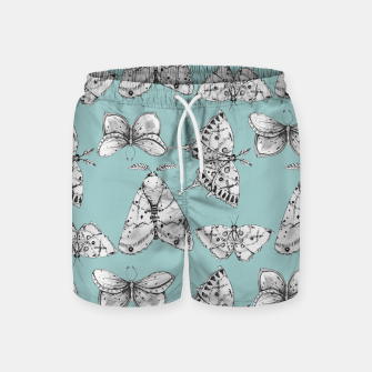 Miniaturka Moth: Dusty Blue Swim Shorts, Live Heroes