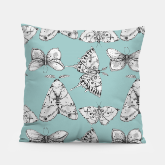 Thumbnail image of Moth: Dusty Blue Pillow, Live Heroes