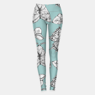Thumbnail image of Moth: Dusty Blue Leggings, Live Heroes
