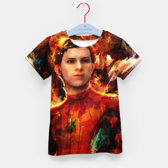 Thumbnail image of spider man Kid's t-shirt, Live Heroes