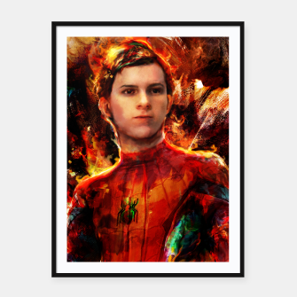 Thumbnail image of spider man Framed poster, Live Heroes