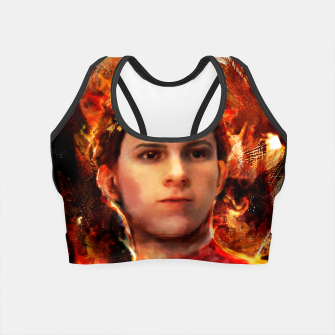 Thumbnail image of spider man Crop Top, Live Heroes