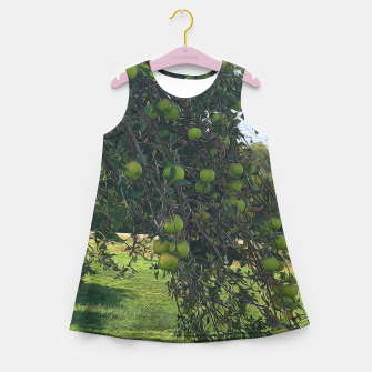 Thumbnail image of Apple Tree Branch Girls Summer Dress, Live Heroes