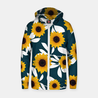 Thumbnail image of Sunflower Cotton zip up hoodie, Live Heroes