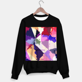 Miniaturka geometric square pixel and triangle pattern abstract in pink purple blue Sweater regular, Live Heroes