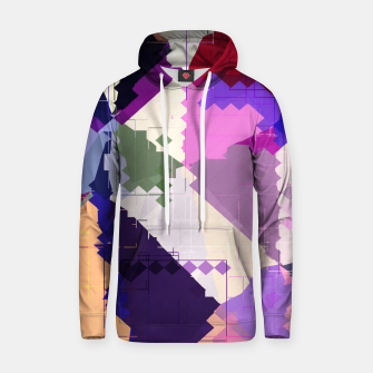 Miniaturka geometric square pixel and triangle pattern abstract in pink purple blue Cotton hoodie, Live Heroes