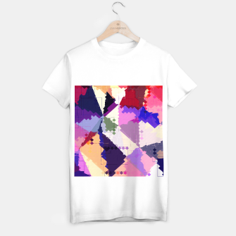 Miniaturka geometric square pixel and triangle pattern abstract in pink purple blue T-shirt regular, Live Heroes