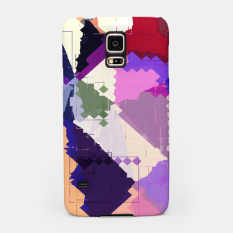 Miniaturka geometric square pixel and triangle pattern abstract in pink purple blue Samsung Case, Live Heroes