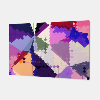 Miniaturka geometric square pixel and triangle pattern abstract in pink purple blue Canvas, Live Heroes