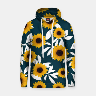 Thumbnail image of Sunflower pattern Cotton hoodie, Live Heroes