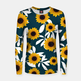 Thumbnail image of Sunflower pattern Woman cotton sweater, Live Heroes
