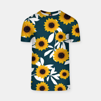 Thumbnail image of Sunflower pattern T-shirt, Live Heroes
