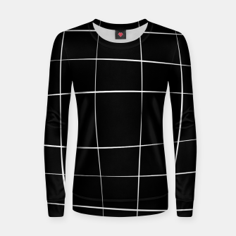 Miniaturka Abstract pattern - black and white. Woman cotton sweater, Live Heroes