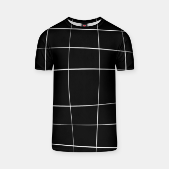 Miniaturka Abstract pattern - black and white. T-shirt, Live Heroes